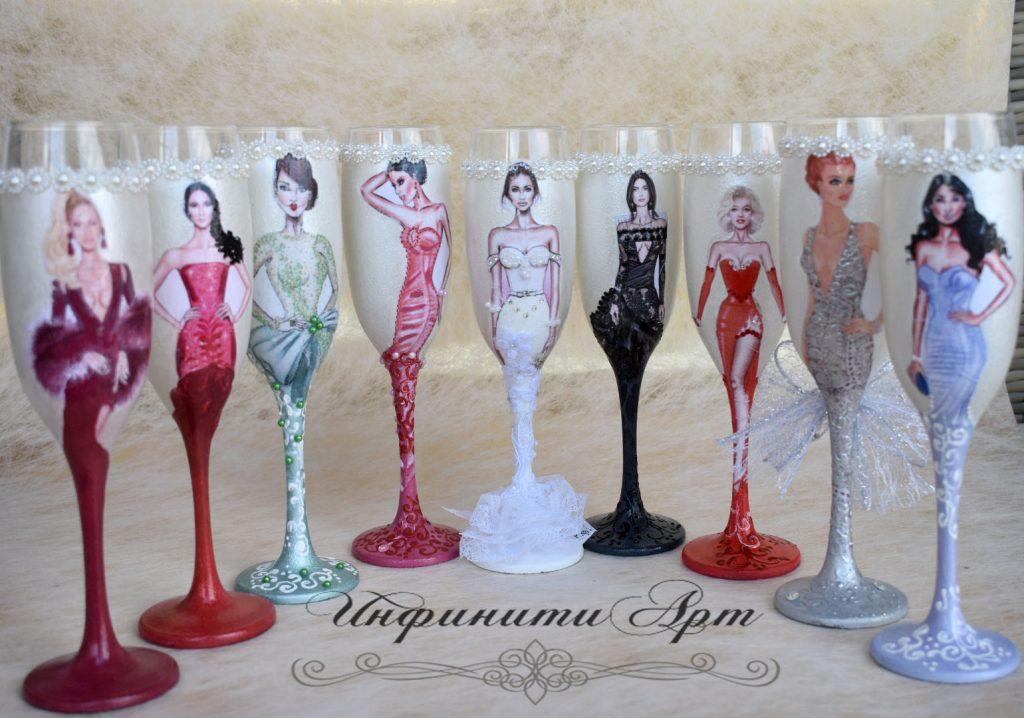 Чаши за моминско парти -Модели