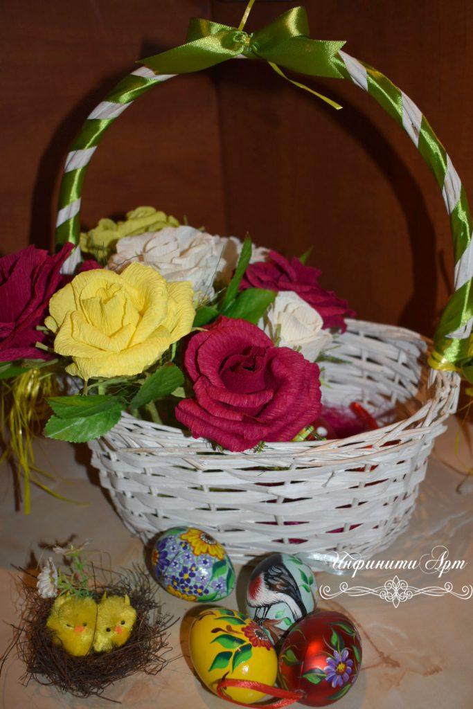 Кошница за Великден с рози
