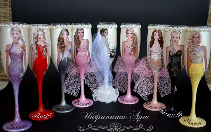 #Ръчна изработка чаши за # моминско парти
