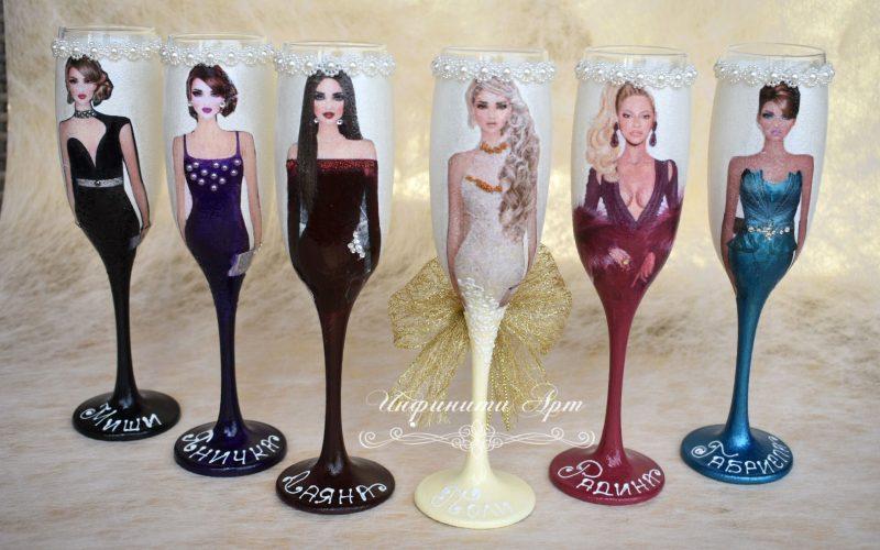 Ръчна изработка чаши за моминско парти